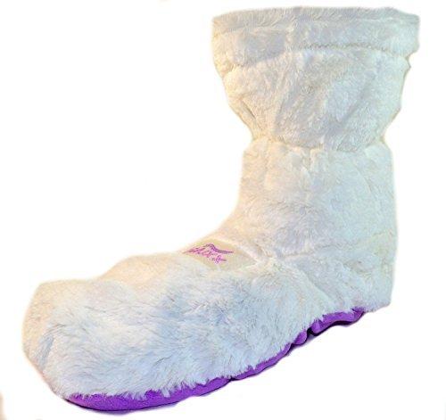 Deluxx-Zapatillas-de-casa-calientes-para-mujernia-con-forro-polar-con-lavanda-para-microondas
