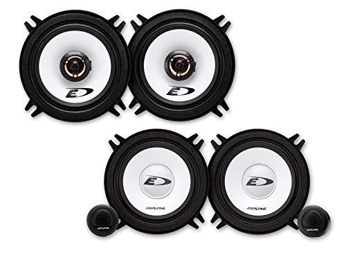 Alpine Front/Trasero 13 cm/130 mm Auto Altavoces/Boxen/Speaker Komplett-Set Compatible con Renault Megane...