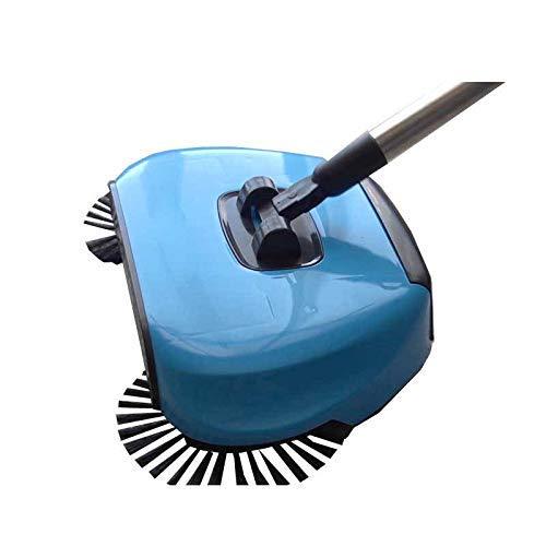 COUTUDI Hand Drücken Roto Bodenkehrmaschine, 360 Rotary Heimgebrauch Zauber Handbuch Kehrmaschine Ohne Strom (Lila) -