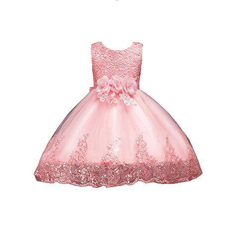 MerryGirl Spitze Pailletten Baby Mädchen Kleid für Hochzeitsgesellschaft -