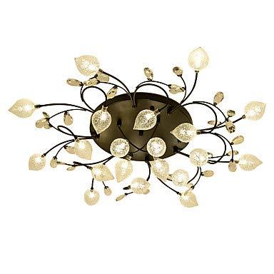 WJFXG Cluster Empire Bowl Einbauleuchten Umgebungslicht Galvanisch Metall Glas Kristall Kreativ, 110-240V Warmweiß für Wohnzimmer Schlafzimmer Esszimmer -
