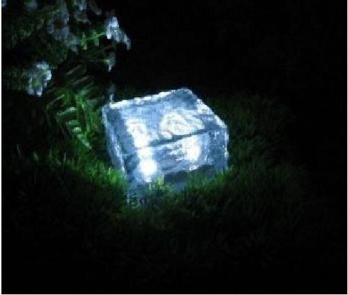 Sunnytech® Deck verre en cristal Brique solaire de jardin Chemin Route Jardin carré clair (Blanc)
