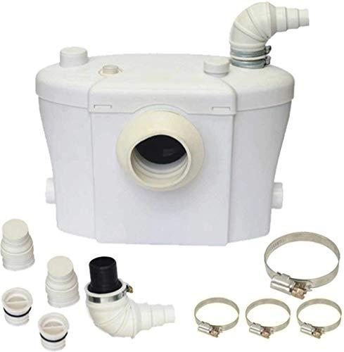 Broyeur sanitaire WC Silencieux avec filtre anti-odeurs avec Lames en acier inox 3 raccordements disponibles Type Sanitrit