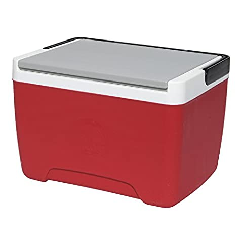 Igloo Island Breeze Cooler, Diablo Red/Ash Gray/Black, 9 quart