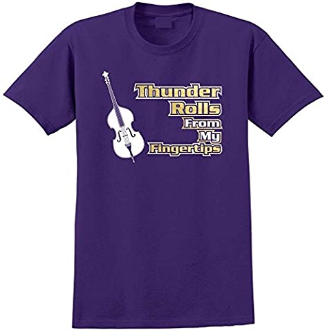 Double Bass Thunder Rolls - Purple Foncé T Shirt Taille 87cm 36in Small MusicaliTee