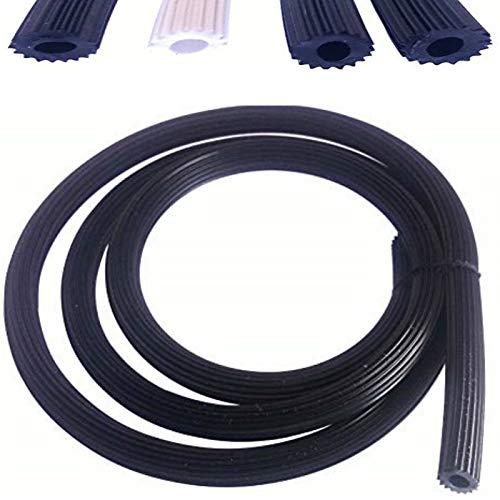 0,80€/m Meterware Gummi Keder 5,1mm für Fliegengitter Insektenschutz in schwarz braun weiß aus Kunststoff PVC rund für Spannrahmen als Kederband Kedergummi Kederschnur Ersatzteil Zubehör (25m-S-5,1)