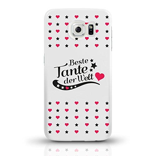 """JUNIWORDS Handyhüllen Slim Case für Samsung Galaxy S6 mit Schriftzug """"Beste Tante der Welt"""" - ideales Weihnachtsgeschenk für die Tante - Motiv 4 - Handyhülle, Handycase, Handyschale, Schutzhülle für I motiv 4"""