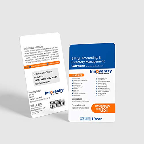 Innoventry Billing , Accounting & Inventory Management Software Basic Version GST Ready ERP Solution