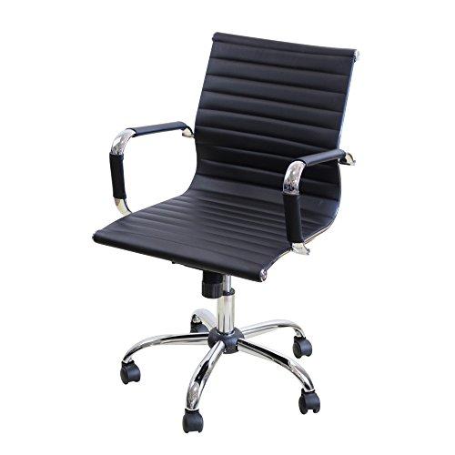 Sedia da ufficio girevole poltrona sedia scrivania da computer tavolo ergonomica-nero