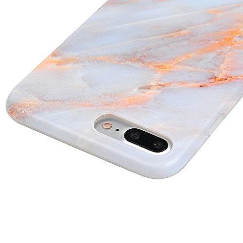 "iPhone 7 Plus Hülle Case YOKIRIN Silikonhülle für iPhone 7 Plus (5.5"") Premium Marmor TPU Silikon Case Cover Handyhülle Handytasche Etui Handycase Flexible Transparent Rahmen Rutschfest Kratzfest Schu Golden"