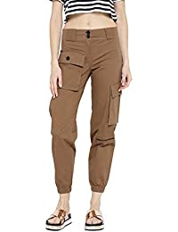 Rider Republic Women's Cargo Pants (103165-34_Khaki Brown_34)