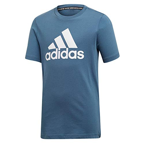 adidas Jungen YB MH BOS T T-Shirt, tech Ink/White, 13-14Y