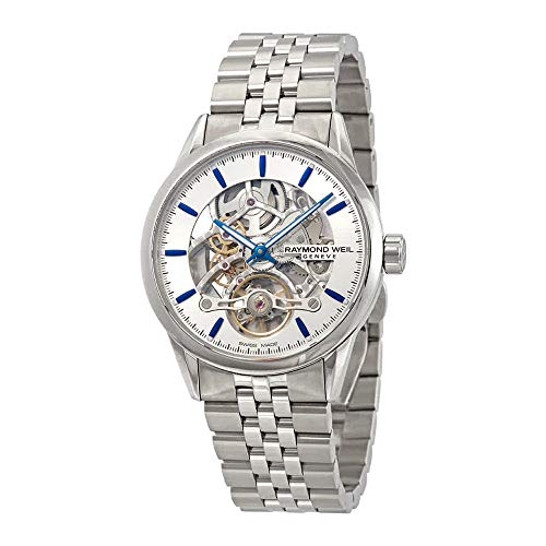 Montre Automatique Raymond Weil Freelancer Skeleton, 42 mm, Argent, 10 ATM