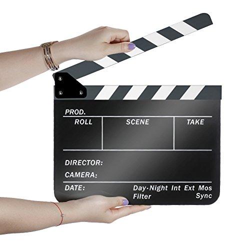 off 25,4x 30,5cm/25x 30cm Dry Erase Director 's Film Movie 23.006Cut Action Szene Klappen Schiefer mit Weiß/Schwarz Sticks (Movie Clapboard)