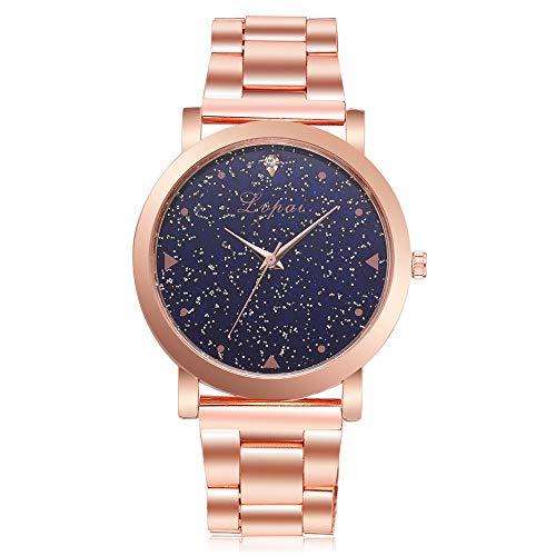 Suitray Uhren Damen,Mädchen Bling Bling Analoge Quarzuhr Armbanduhr Geschenk,Runde Zifferblattgehäuse Edelstahlband Uhren