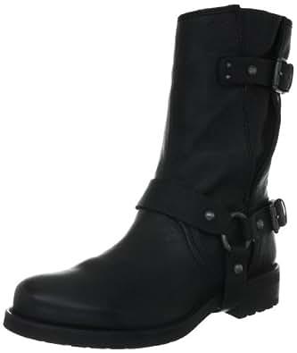 Geox D NEW VIRNA G D2451G00083C9999, Damen Biker Boots, Schwarz (BLACK C9999), EU 35