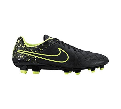 Nike Tiempo Genio Leather, Chaussures de football homme Noir / Vert (Noir / Black-Volt)
