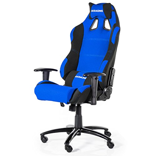 AK Racing Prime K7018 Gaming Chair, Fabric, Black/Blue