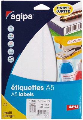 Agipa - agipa Etiquettes bijoux, 45 x 8 mm, format A5