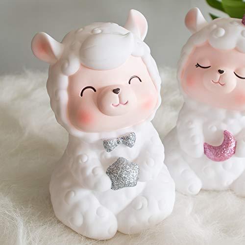 GE&YOBBY Creative Piggy Bank,solide Schlafende Schafe Money-Box Cartoon Tiermünze Bank Für Baby Kinder Geschenk Décoration De La Maison -a 17.5x10.5cm(7x4inch)