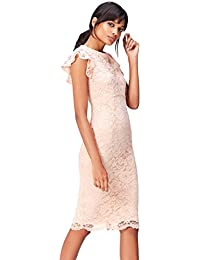 FIND - Frill Sleeve Lace, Vestito Donna