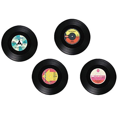 4er Set Getränke Untersetzer Vinyl Schallplatte LP