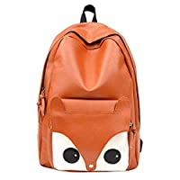VHVCX Women Canvas Backpack School Bags Lovely Cute Fox Printing Backpack For Teenagers Ladies Casual Cute Rucksack Travel
