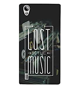 FUSON Lost In The Music 3D Hard Polycarbonate Designer Back Case Cover for Vivo Y15S :: Vivo Y15