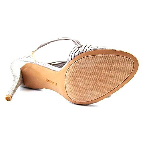 Nine West Dechico sintetico tacco del sandalo Grey/Gry