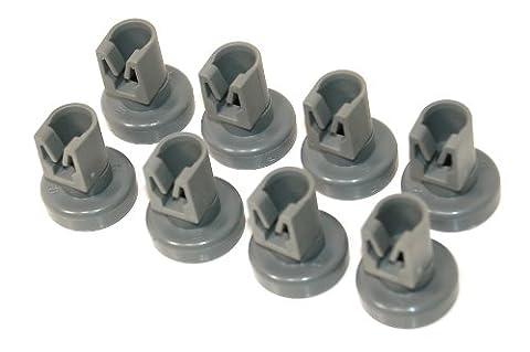 Zanussi Dishwasher Grey Upper Basket Wheels - Pack Of 8 (Genuine part number 50286967000)