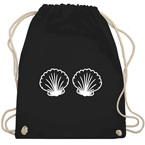 Karneval & Fasching - Meerjungfrau Kostüm weiß - Unisize - Schwarz - WM110 - Turnbeutel & Gym Bag