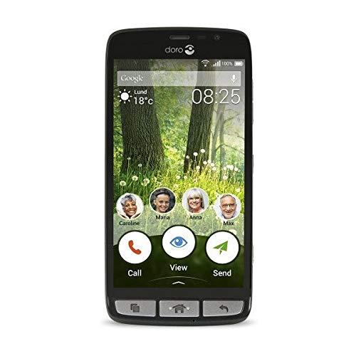 Doro Liberto 825 SIM única 4G 8GB Negro - Smartphone (12,7 cm (5'), 8 GB, 8 MP, Android, 5.1, Negro)