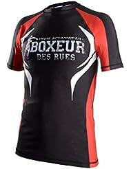 Boxeur des Rues Fight Activewear T-shirt MMA à manches courtes pour homme