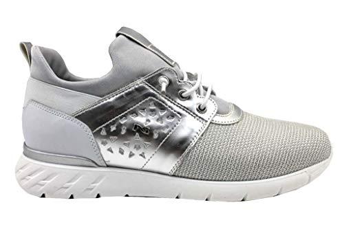Nero Giardini Teen P931041F/700 Sneakers Scarpe Donna Sportive Lacci Argento (36 EU)
