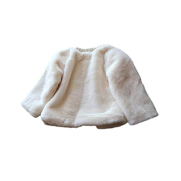 Abrigo de niñas   Niños pequeños Bebés Niñas Chaqueta de Invierno Abrigo cálido Abrigo Grueso Piel sintética a Prueba de… 3