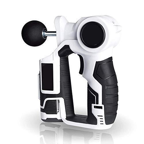 MJ-Sports Muscle Gun | Handheld Percussion Massager | Massagepistole für Muskelkater und Erholung, Tiefengewebemassagegerät - mit 4 einstellbaren Köpfen und 6 Geschwindigkeitsstufen