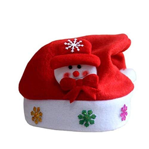 Ogquaton Blinkende Weihnachten Schneemann Hut Unisex Weihnachten LED Hut lustige Urlaub Licht Kappe mit eingebautem Akku langlebig und praktisch