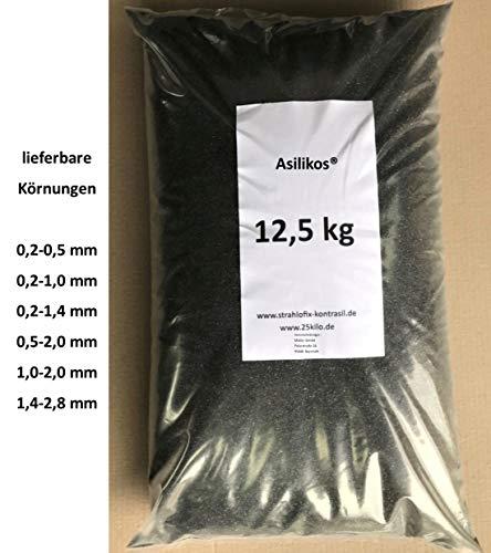 Asilikos 12,5 kg Strahlmittel Strahlgut Sandstrahlen alle Körnungen (0,2-0,5 mm)