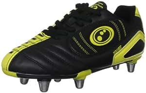 Optimum Boy's Velocity Rugby Boot - Black/Yellow, 1 UK