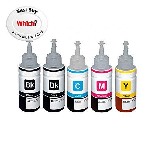 1 Set + 1 Schwarz Colour Direct Kompatibel Nachfüll-Tintenflasche Ersatz Zum Epson T6641 T6642 T6643 T6644 - EcoTank ET-14000 ET-2500 ET-2550 ET-2600 ET-2650 ET-3600 ET-4500 L355 L555 Drucker - 2550 Toner