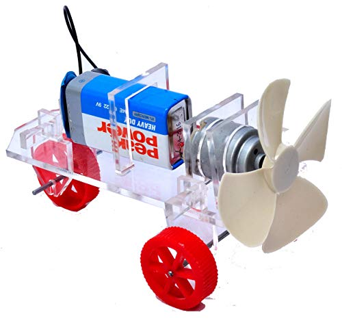 AIR CAR DO IT Yourself KIT - STEM Activity Set - STEM Kits for Kids - Science Adventure Box - Tinkering LAB Model - School LAB Model – Teacher'S Learning Material - TLM Model
