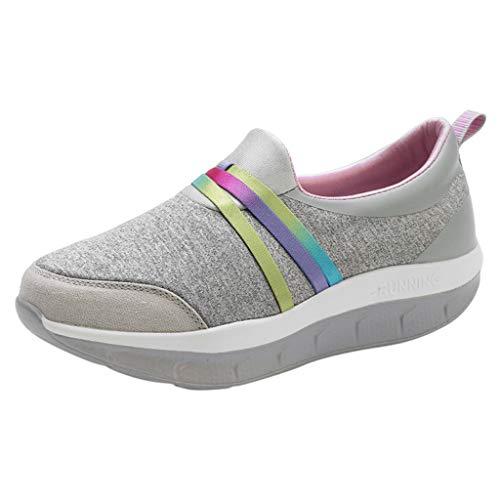 POLPqeD Sneakers Donna Eleganti Scarpe Zeppe Donna Ragazze Casual Vintage Primavera Estivi Scarpe Sportive estive Comode per Camminare Casual Scarpa a Zeppa