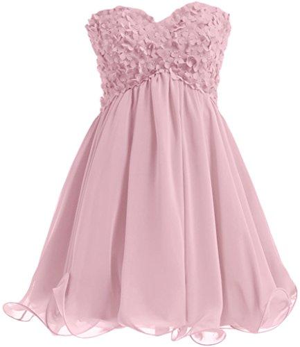 Missdressy - Robe - Plissée - Femme rose clair