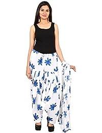 BILOCHI'S Women Printed Solid Cotton Full Multi-Coloured Patiala Salwar Dupatta Set(Free Size,Blue)