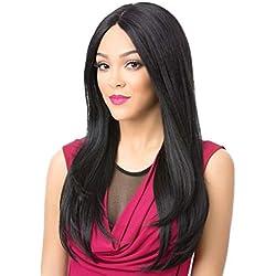 ღ Brisk-Fairy Perruques Sexy Femmes Longue Noire Perruque Dégradée Ondulée Partie Bouclée Synthétique Mode Perruques Perruque De Partie Pas De Frange