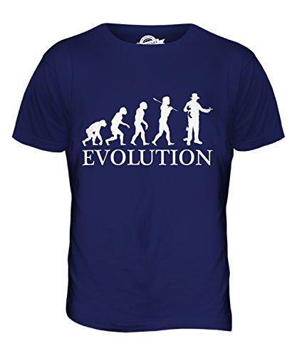 CandyMix Hexer Zaubere Evolution Des Menschen Herren T Shirt Navy Blau