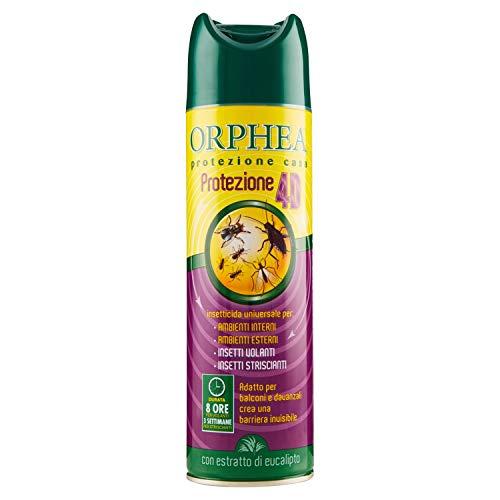 Orphea Insetticida Spray, Insettorepellente Universale Contro Insetti Volanti e Striscianti. Protezione4D Universale. Non Macchia le Superfici, 500 ml
