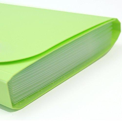 Pinzhi - 1X Mini Plástico Carpeta para Documento Factura Recibo Tarjeta Organizador