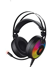 Redgear Comet 7.1 USB Gaming Headphones with RGB LED Effect, Mic and in-line Controller for PC
