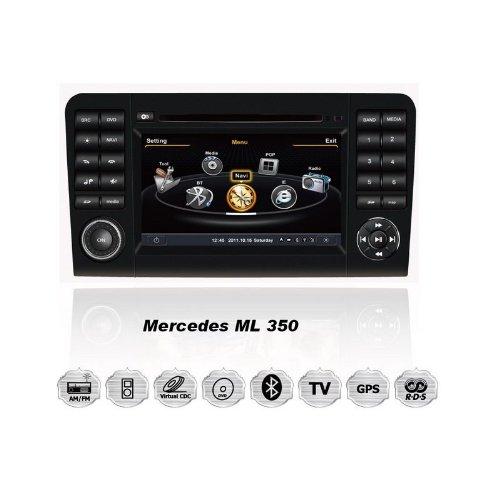 REALMEDIA Mercedes Benz ML 350 OEM Einbau Touchscreen Autoradio DVD Player MP3 MPE4 USB SD 3D Navigation GPS TV iPod USB MPEG2 Bluetooth Freisprecheinrichtung +++mit REALMEDIASHOP Garantie+++
